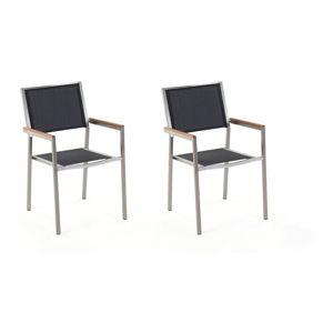 Sada 2 černých zahradních židlí Monobeli Classy