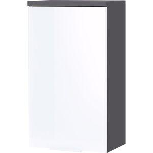 Bílo-šedá nástěnná skřínka Germania Pescara