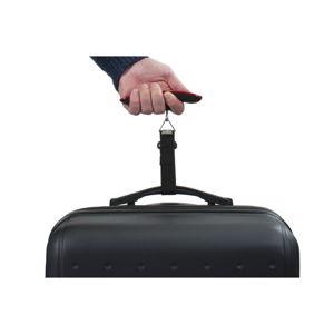 Červená elektronická váha pro zvážení kufru Bluestar