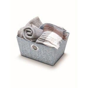 Modrý úložný košík Cosatto Tweed, šířka33cm