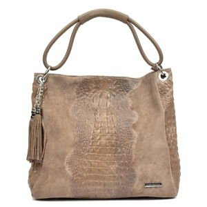 Béžová kožená kabelka Luisa Vannini Murinio