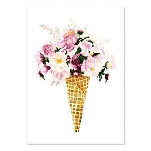 Plakát Leo La Douce Flower Cone, 21x29,7cm