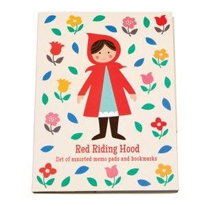 Sada 7 lepicích bločků s motivem Červené Karkulky Rex London Red Riding Hood