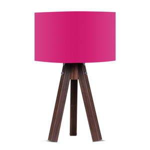 Stolní lampa s růžovým stínítkem Kate Louise Kahve