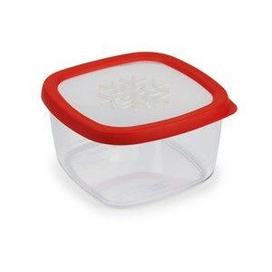Červená dóza na potraviny Snips Snowflake, 1,5l