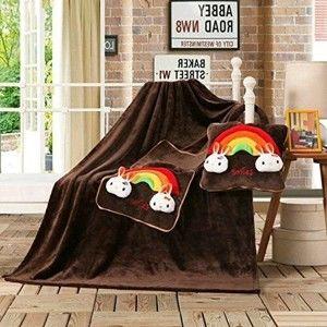 Tmavě hnědá dětská deka z mikrovlákna DecoKing Cuties Smiles, 110 x 160 cm