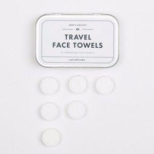 Sada 20 cestovních ručníků na obličej Men's Society