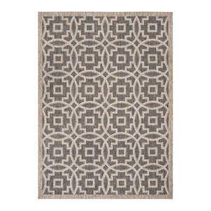 Černo-béžový koberec vhodný do exteriéru Safavieh Jade, 160x230cm