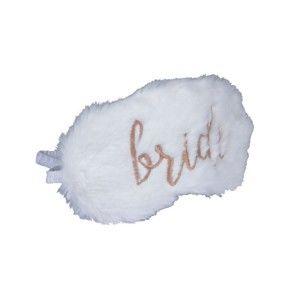 Bílá maska na spaní s flitry Tri-Coastal Design Bride