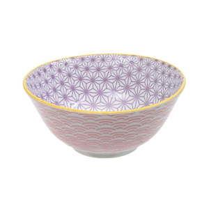 Růžovofialová porcelánová miska Tokyo Design Studio Star, ⌀15,2cm