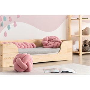 Sada 3 růžových bavlněných polštářů Adeko