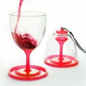 Sada 2 červených skleniček na víno Asobu Stack N' Go Vino, 300 ml