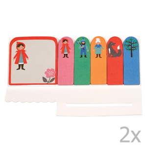 Sada 2 lepících štítků Rex London Red Riding Hood