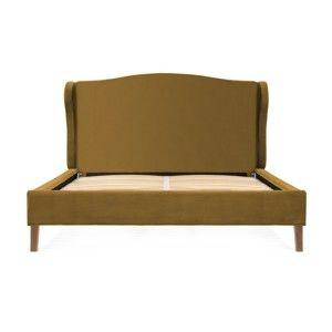 Hořčicově hnědá postel z bukového dřeva Vivonita Windsor, 160 x 200 cm