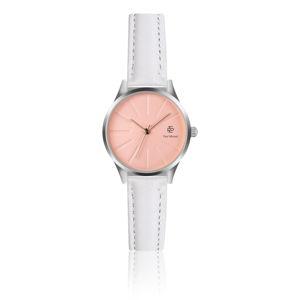Dámské hodinky s páskem z pravé kůže v bílé barvě Paul McNeal Shakio
