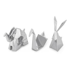Sada 3 stojánků ve stříbrné barvě na šperky Umbra Origami