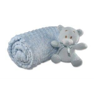 Bavlněná dětská deka Aksu Mavi,110x90cm