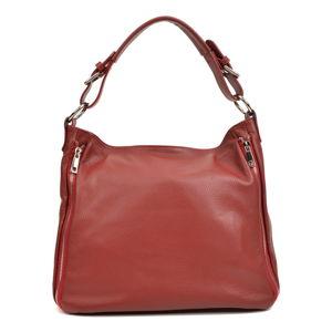 Červená kožená kabelka Roberta M Valeria