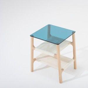 Odkládací stolek s konstrukcí z masivního dubového dřeva Gazzda Fawn