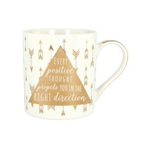 Hrnek z kostního porcelánu Ashdene My Metallics Positive Carrington, 380 ml