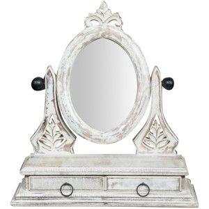 Stolní zrcadlo se 2 zásuvkami Crido Consulting Caroline