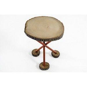 Odkládací stolek ze dřeva dubu a křídloku Mambi