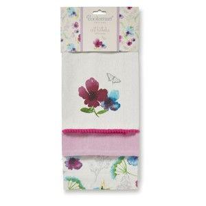 Sada 3 bavlněných utěrek Cooksmart England Chatsworth Florals