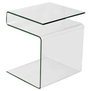 Variabilní skleněný odkládací stolek se stojanem na časopisy Evergreen House