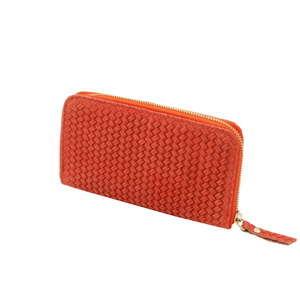 Korálově červená peněženka z pravé kůže Andrea Cardone Cahlia
