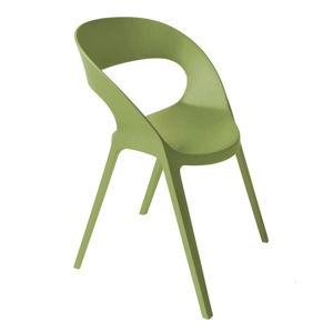 Sada 2 olivově zelených zahradních židlí Resol Carla
