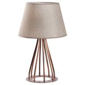 Stolní lampa s krémovým stínítkem Masivworks Drill