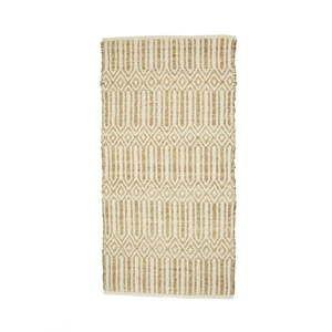 Béžový koberec zmořské trávy abavlny Simla, 140x70cm