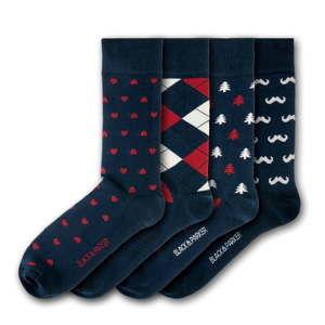 Sada 4 párů unisex ponožek Black&Parker London Bicton Park, velikost 37 - 43