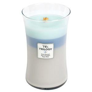 Vonná svíčka WoodWick Hřejivé pohodlí, 130hodin hoření