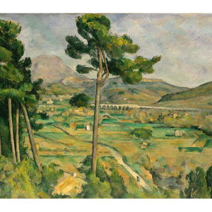 Reprodukce obrazu Paul Cézanne - Mont Sainte, 80x70cm