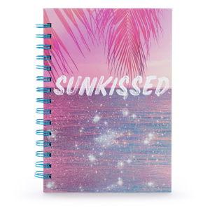 Zápisník v kroužkové vazbě s lineaturou Tri-Coastal Design Sunkissed, 120 stránek