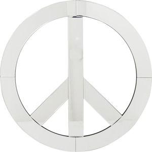 Dekorativní nástěnné zrcadlo Kare Design Peace, průměr 70cm