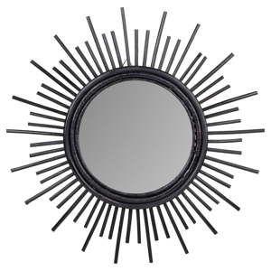 Nástěnné zrcadlo z ratanu Sunny Noah, ø44cm