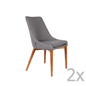 Sada 2 šedých židlí Dutchbone Juju