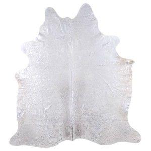 Pravá hovězí kůže Arctic Fur Silver Puro, 206 x 190 cm