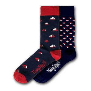 Sada 2 párů barevných ponožek Funky Steps Patterns Dark Mix, velikost 41 - 45