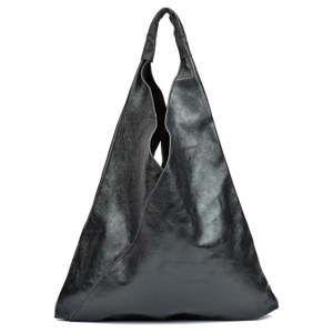 Černá kožená kabelka Isabella Rhea Arya
