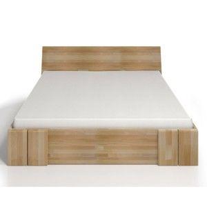 Dvoulůžková postel z bukového dřeva se zásuvkou SKANDICA Vestre Maxi, 140x200cm