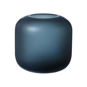 Modrá skleněná váza Blomus Bright,výška17cm