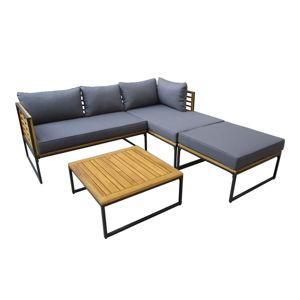 Set zahradního nábytku s prvky z akáciového dřeva Ezeis Brick