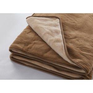 Hnědá deka z merino vlny Royal Dream Quilt,160x200cm