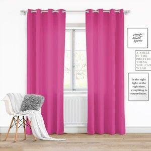 Růžový závěs Slowdeco Vivat, 140 x 250 cm