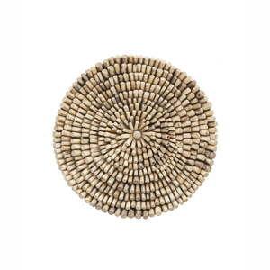 Nástěnná dekorace z teakového dřeva Index Living Bee, ⌀70cm
