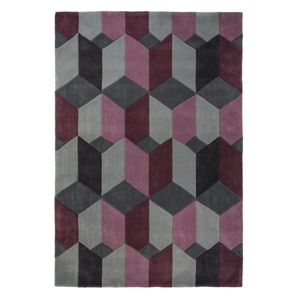 Šedo-fialový koberec Flair Rugs Scope Purple, 80 x 150 cm