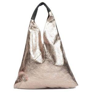 Kožená kabelka ve zlaté barvě Isabella Rhea Lisco Oro
